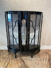 Half shape English Art Deco Display Cabinet