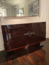French Art Deco Sideboard with Glas Door