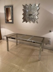 Mid-Century Metal Dining Table