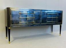 Italian Mid-century chest of drawers in navy blue