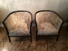 Wood Arm Chair Set