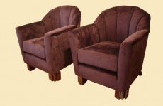 Upholstered Antique Arm Chair Set