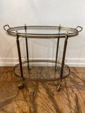 Round Art Deco Rolling Bar