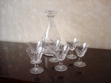 Glass Liqueur Set of 7 pcs