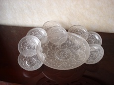 Fruit Salad plate set of 8 with a big plate