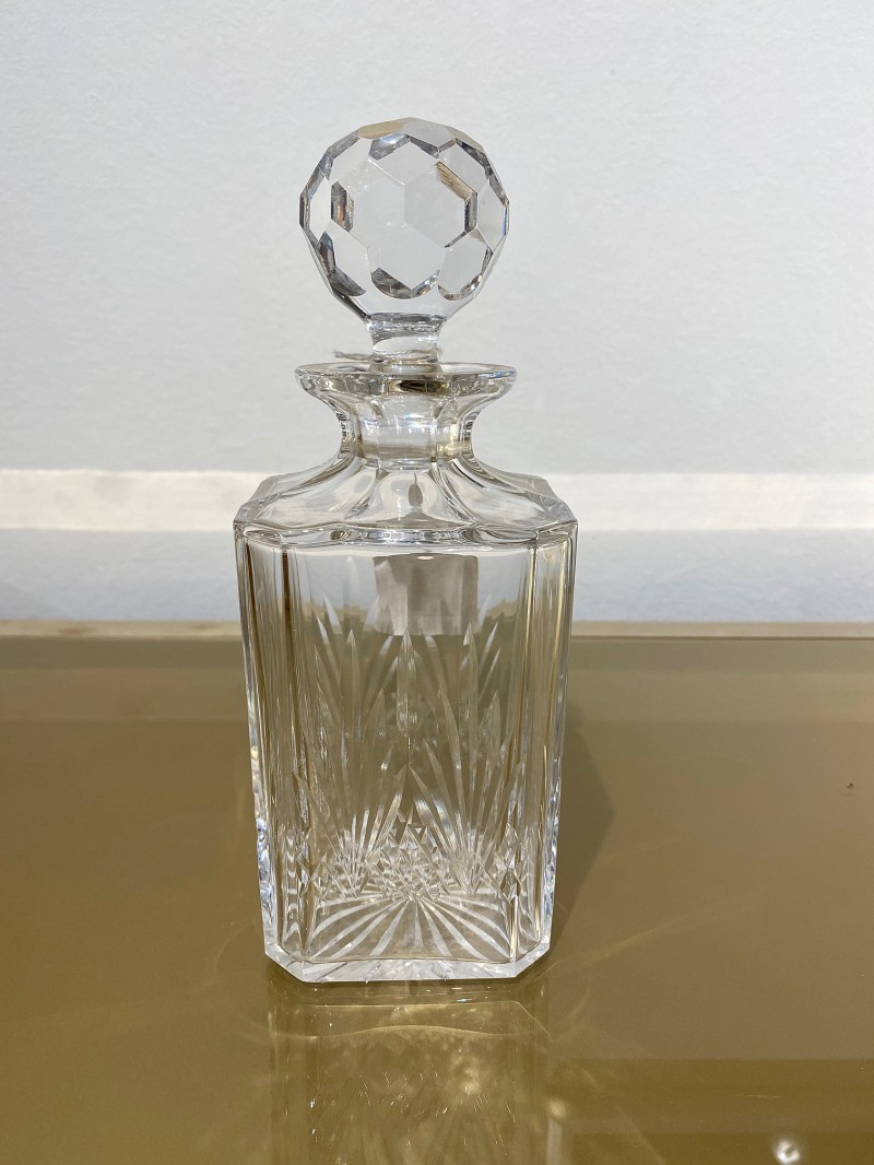 Beveled Glass Whisky Decanter